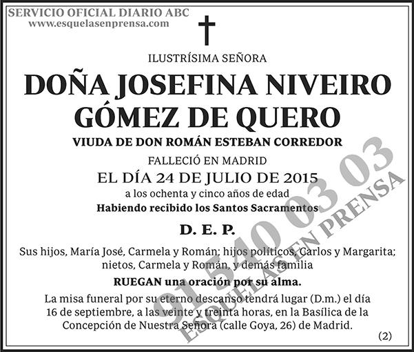 Josefina Niveiro Gómez de Quero